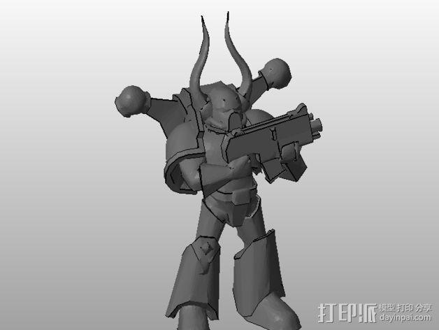 Dark Marine星际战士 3D模型  图2