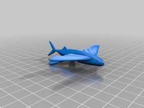 飞鱼 3D模型
