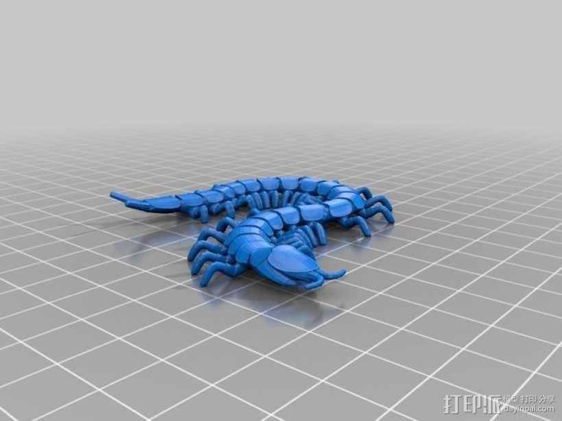 蜈蚣 3D模型  图1