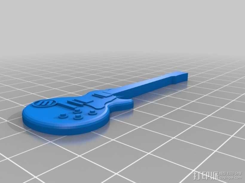 迷你吉他 3D模型  图2