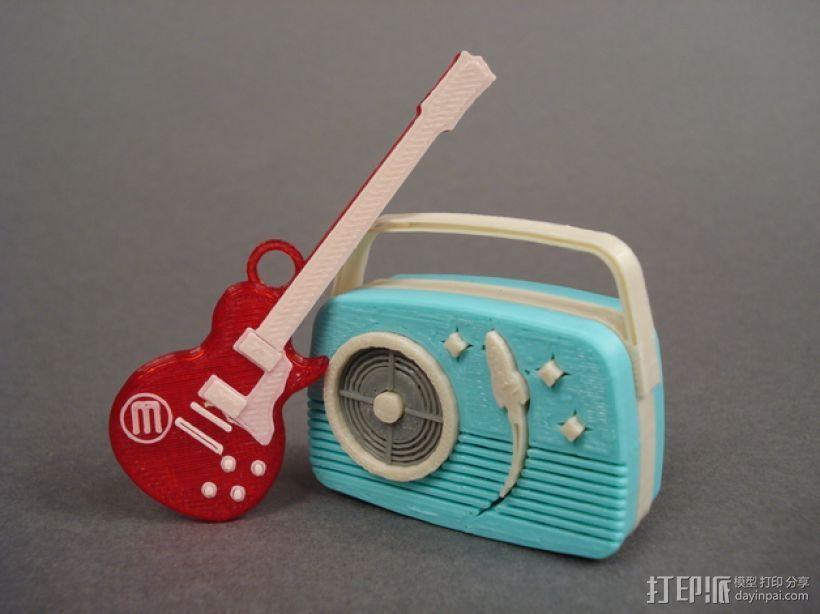 迷你吉他 3D模型  图1