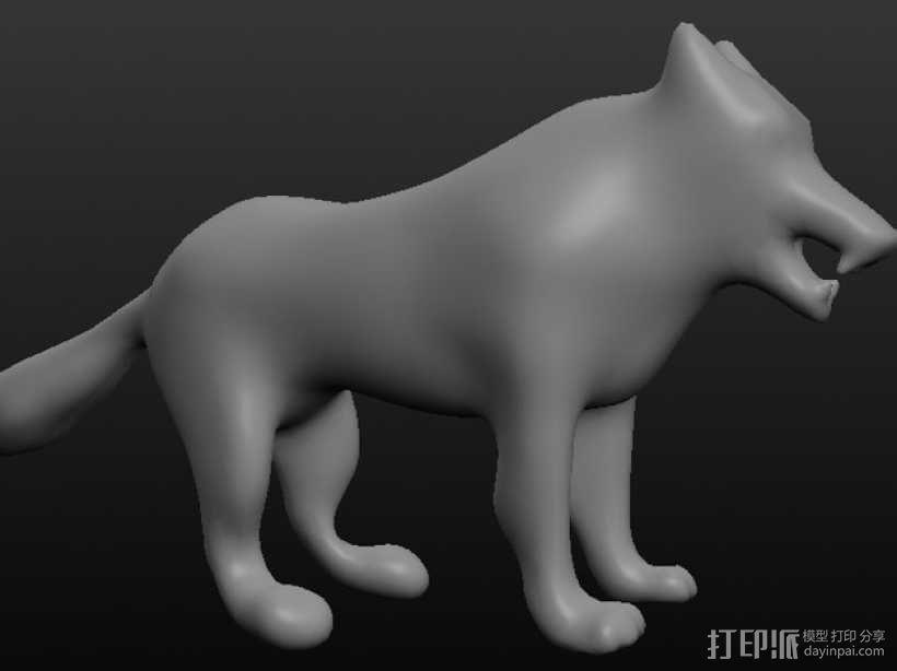 狼 3D模型  图2