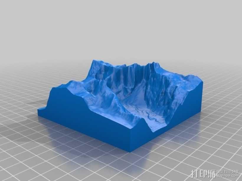 Troll Wall巨魔峰 3D模型  图1