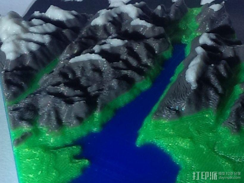 意大利加尔达湖3D地图 3D模型  图1