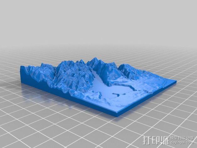 意大利加尔达湖3D地图 3D模型  图3