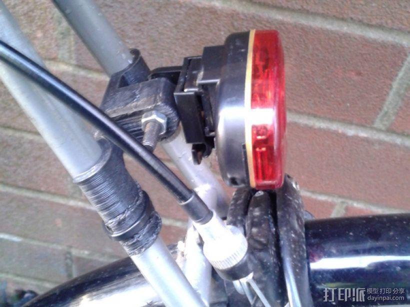 自行车后车灯支撑架 3D模型  图1