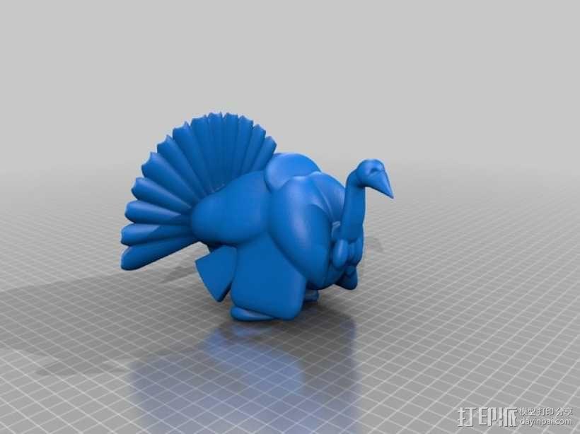 火鸡 3D模型  图1