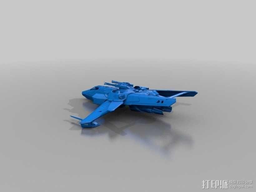 星际公民 超级大黄蜂式攻击战斗机 3D模型  图1