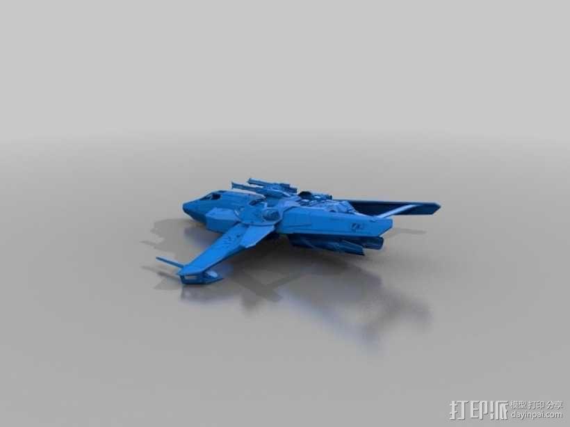 星际公民 超级大黄蜂式攻击战斗机 3D模型  图2