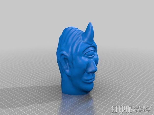 独眼巨人头部模型  3D模型  图2