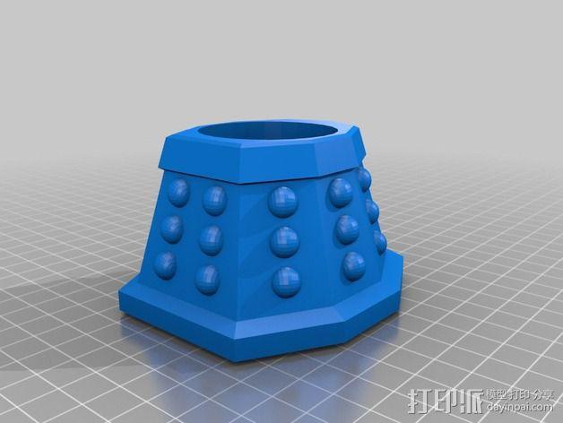 戴立克机器人杯子 3D模型  图1