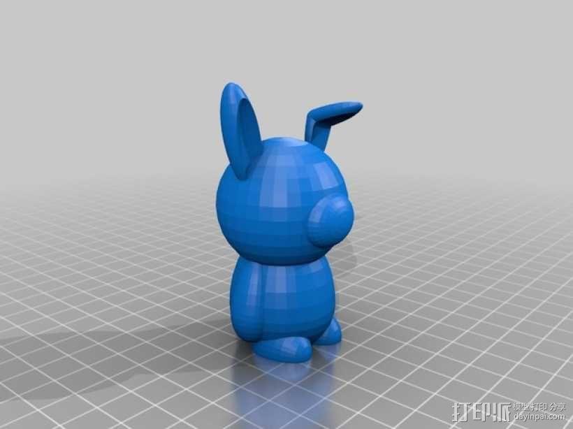 兔子 3D模型  图1