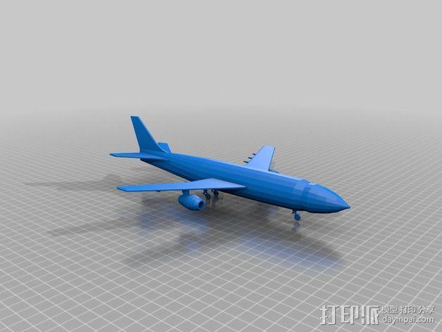 喷气式飞机 3D模型  图1