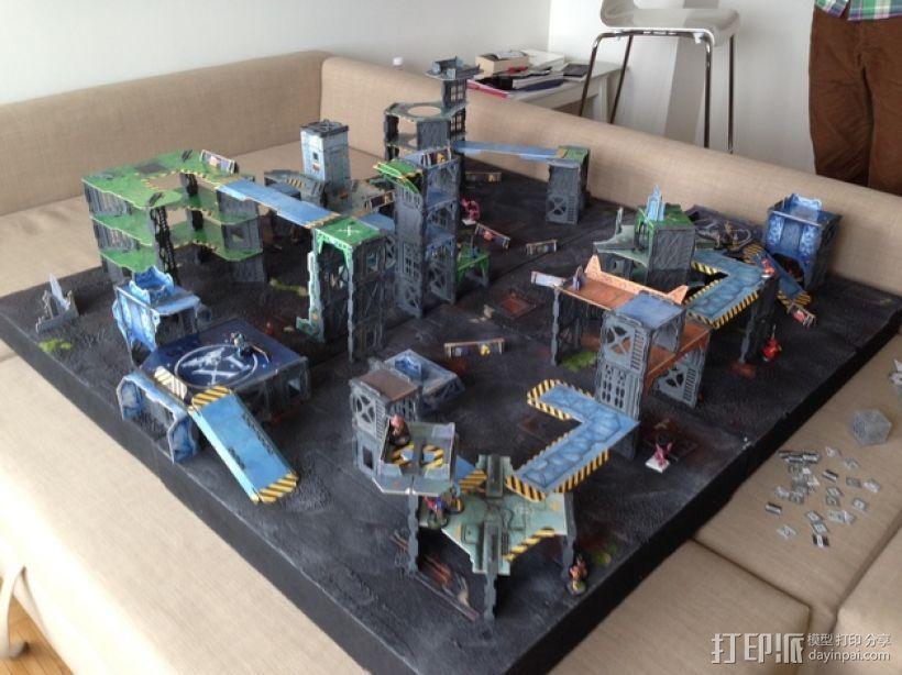 战争游戏建筑 3D模型  图3
