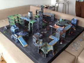 战争游戏建筑 3D模型