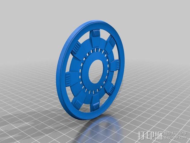 钢铁侠能量环顶部盖罩 3D模型  图2