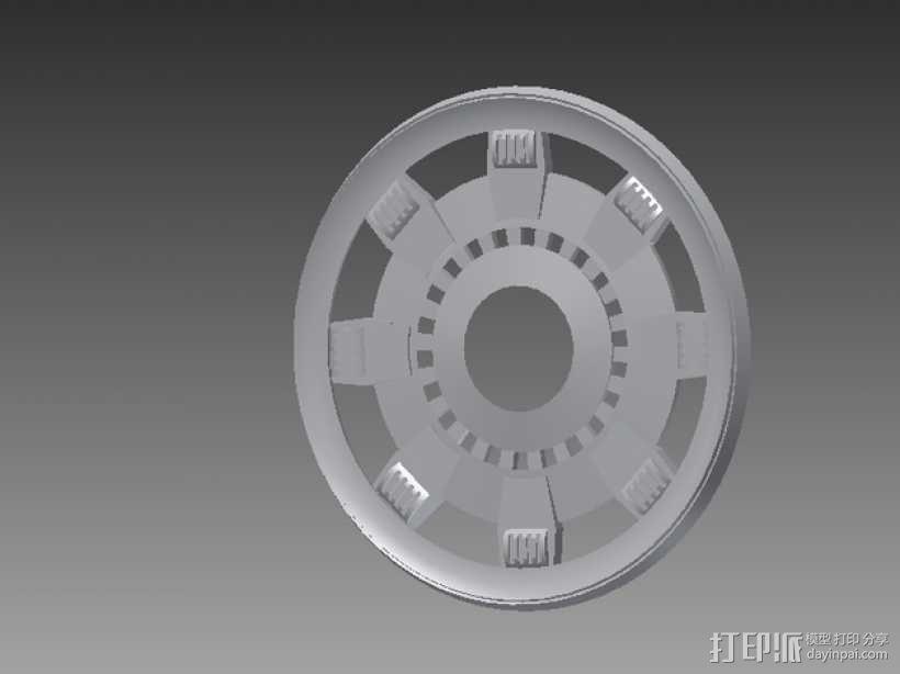 钢铁侠能量环顶部盖罩 3D模型  图1