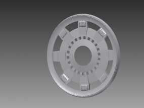 钢铁侠能量环顶部盖罩 3D模型