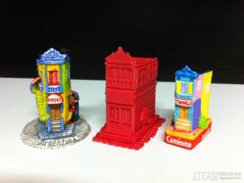Esquina Caminito 建筑模型 3D模型  图1