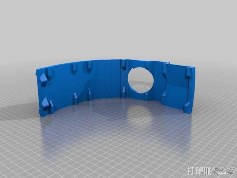 光晕4 头盔 3D模型  图1