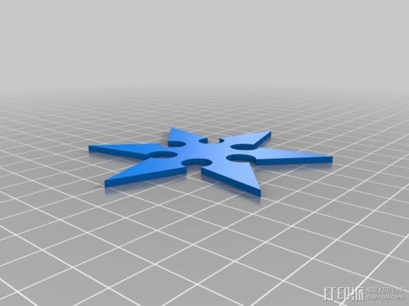 忍者飞镖 3D模型  图1