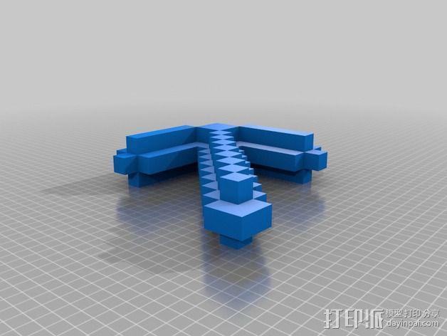 鹤嘴锄 3D模型  图2