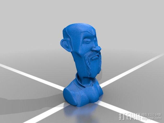 戴帽子的牛仔 3D模型  图2