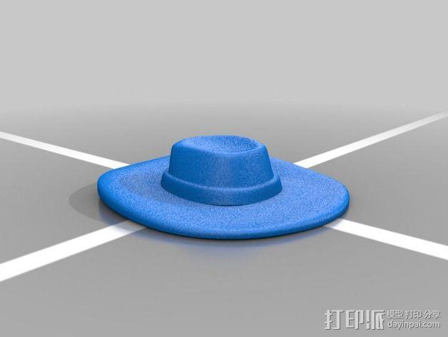 戴帽子的牛仔 3D模型  图3