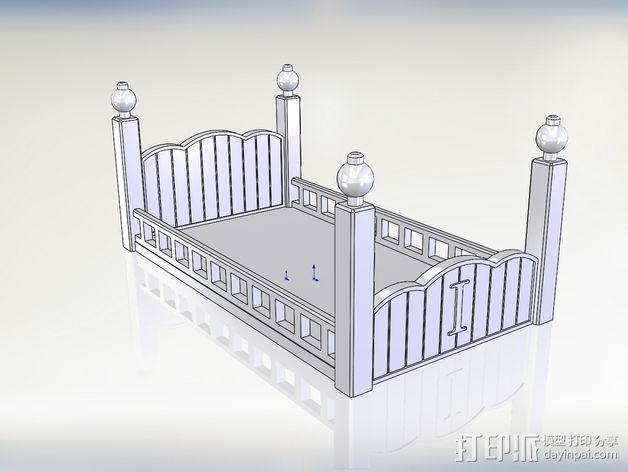 玩偶之家 床  3D模型  图1