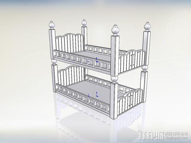 玩偶之家 床  3D模型  图3