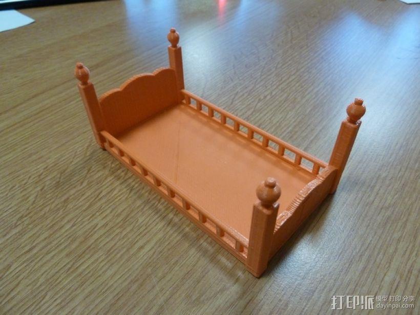 玩偶之家 床  3D模型  图4