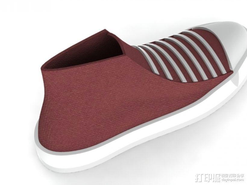 匡威帆布鞋 3D模型  图3