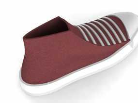 匡威帆布鞋 3D模型