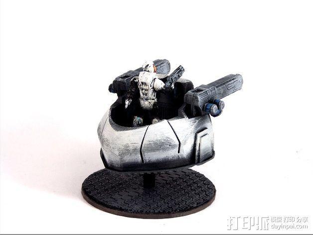 可移动炮塔 3D模型  图4