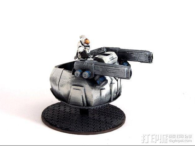 可移动炮塔 3D模型  图2