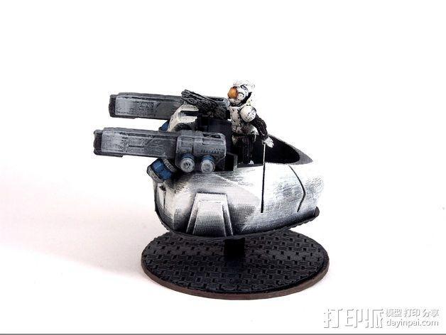 可移动炮塔 3D模型  图3