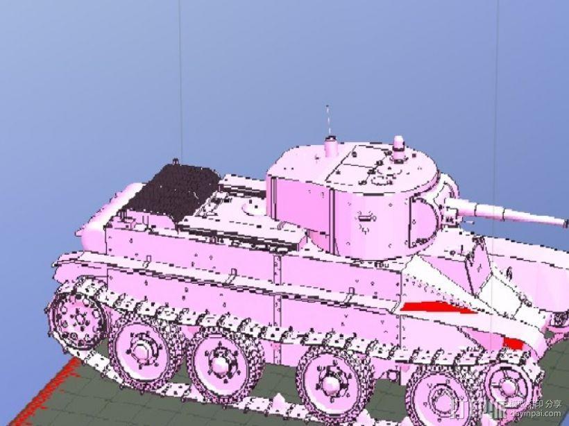 Soviet cavalry BT-2坦克 3D模型  图2