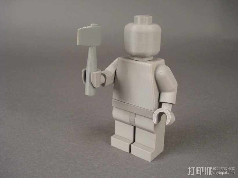 短柄斧头 3D模型  图1