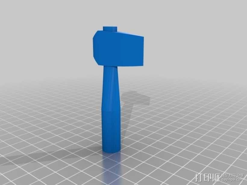 短柄斧头 3D模型  图2