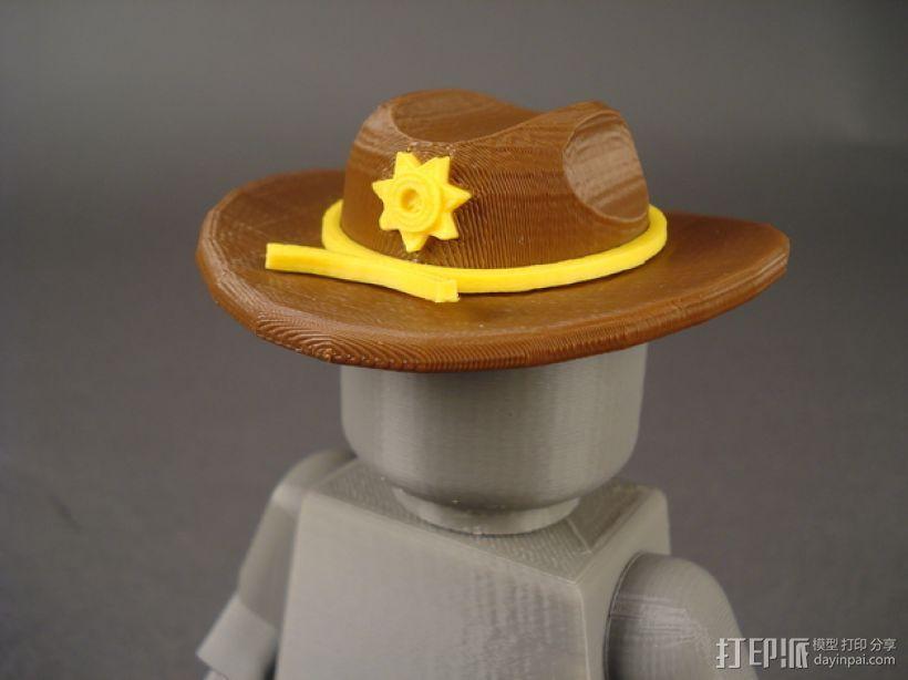 副警长的帽子 3D模型  图1