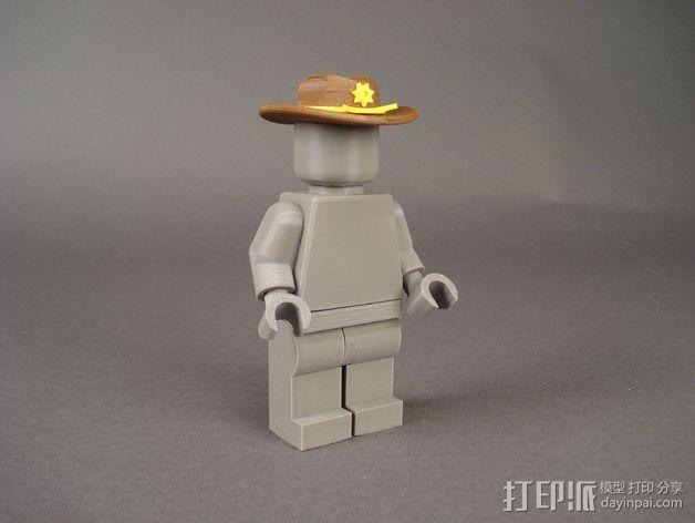 副警长的帽子 3D模型  图2