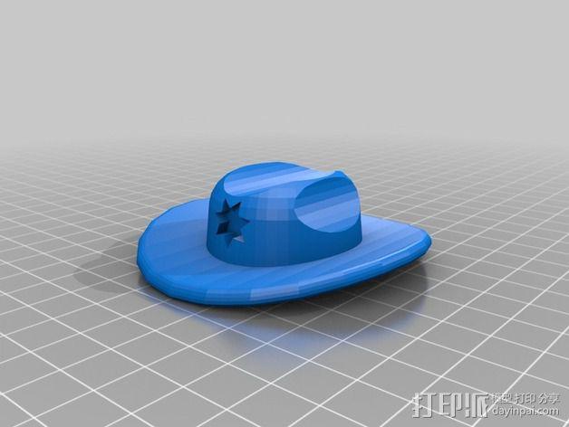 副警长的帽子 3D模型  图4