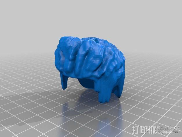 头套 假发 3D模型  图3