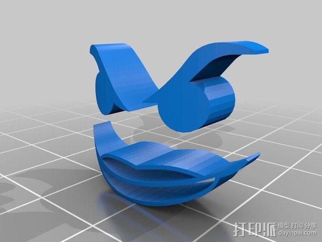 暗夜骑士 威廉头部模型 3D模型  图2