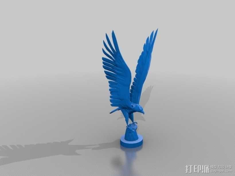 苍鹰 3D模型  图1