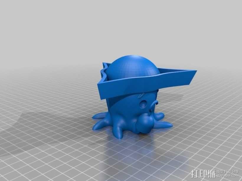 可爱的章鱼 3D模型  图1