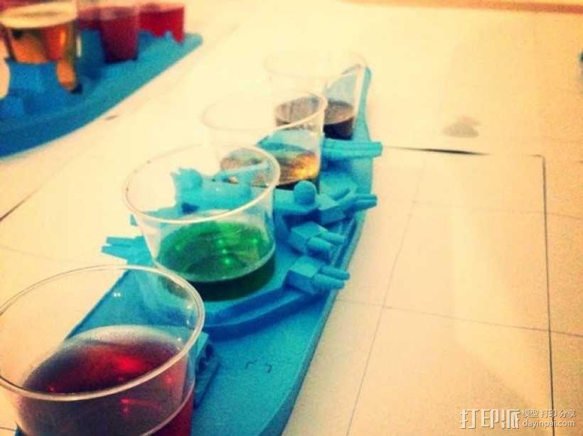 战舰酒杯托 3D模型  图1