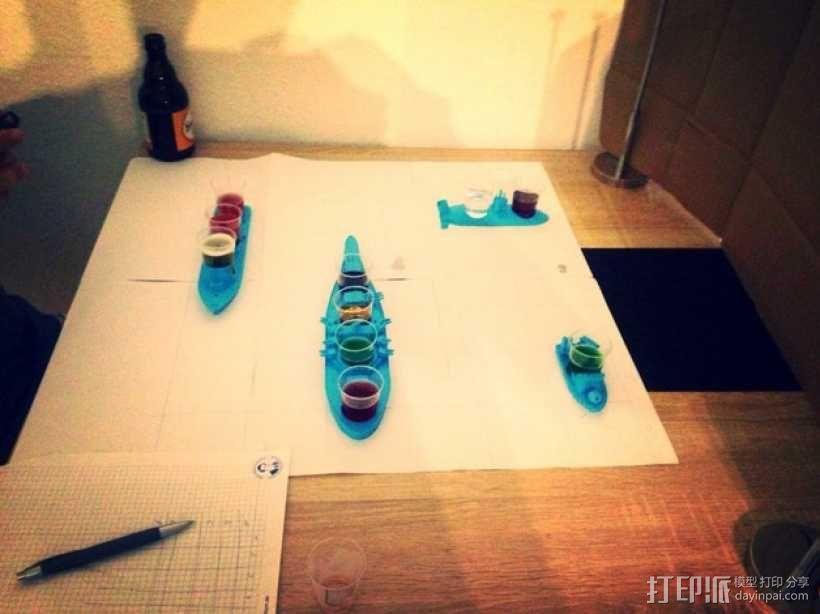 战舰酒杯托 3D模型  图4