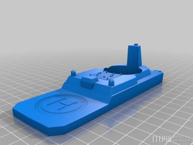 战舰酒杯托 3D模型  图5