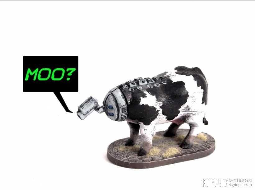 奶牛机器人 3D模型  图1